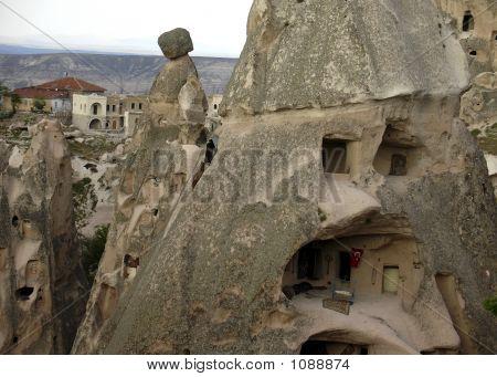 Türkischer Hügel Häuser