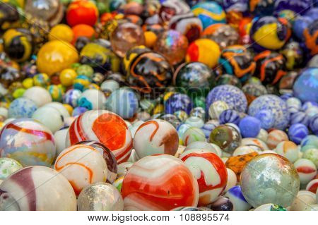 Background Of Marbles