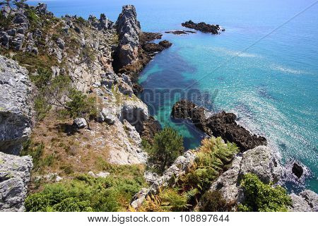 Ile Vierge, Crozon Peninsula, Finistere, Brittany, France