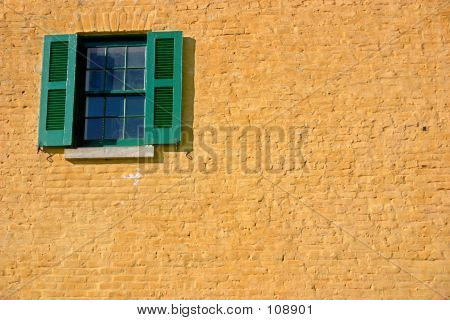 Window In Yellow And Green