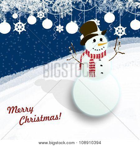 Snowman -Merry Christmas