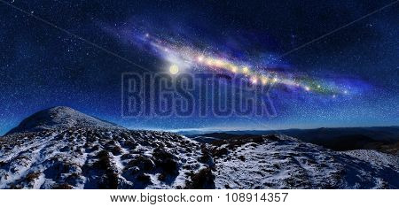 Night Space Landscape