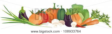 Collection of 3D vegetables