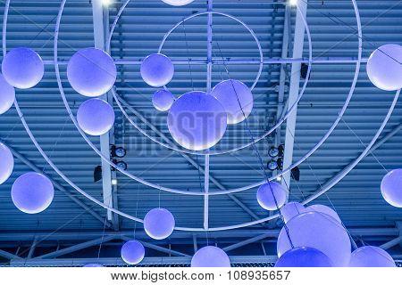 Blue Circle Lights