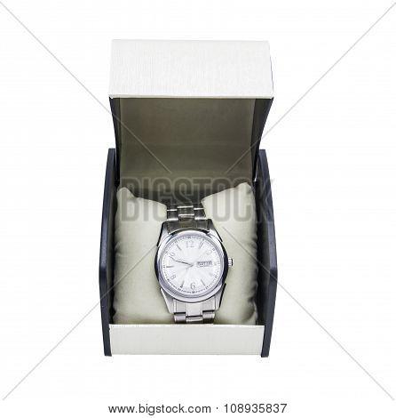 Luxury Watch On A White Background