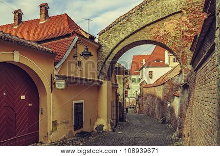 Backstreet View, Sibiu, Romania