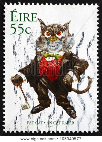 Postage Stamp Ireland 2007 Fat Cat