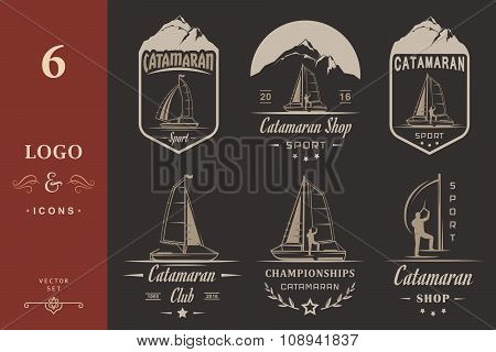 Set Catamaran Logos And Badges