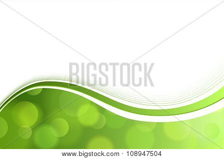 Background abstract green circle lines wave vector