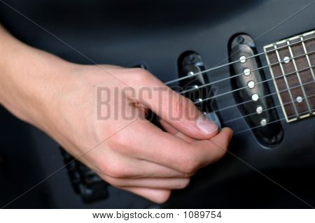 Picking On Electric Guitar