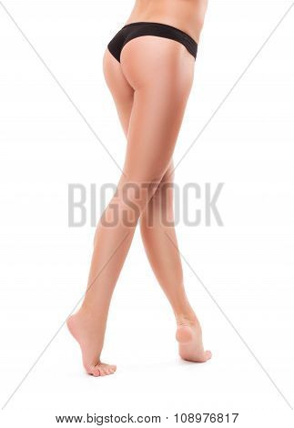 Long pretty woman legs isolated