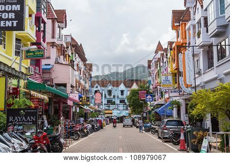 Patong Beach, Thailand - Circa September 2015: Streets Of Patong Beach Resort Town, Patong Beach, Ph