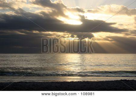 Heavens Breaking Over Water