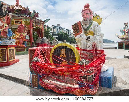 God Statue In Guan Yin Temple.