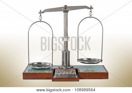 Traditional Unbalanced Pharmacy Scale