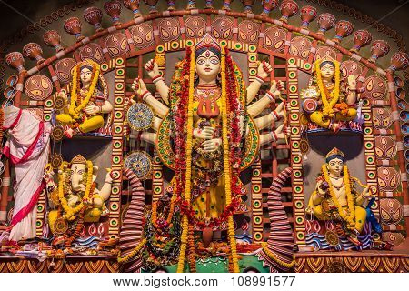 Clay Idols In Durga Puja