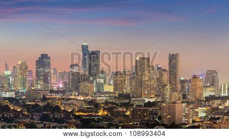 City downtown skyline panorama view