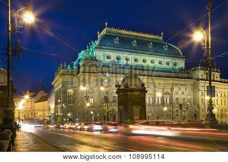 Neo-renaissance National Theatre, New Town In Prague, Czech Republic