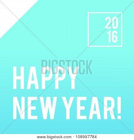 Neon bright minimalistic New Year banner