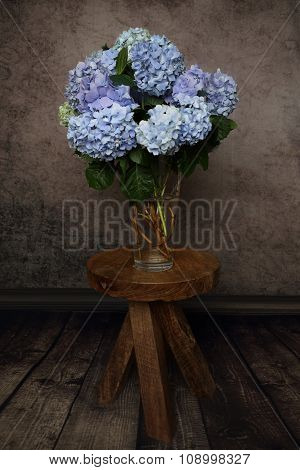 Beautiful Hydrangea Flowers In A Vase
