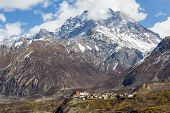 Photograph of Jharkot Village on the famous Annapurna Circuit. poster