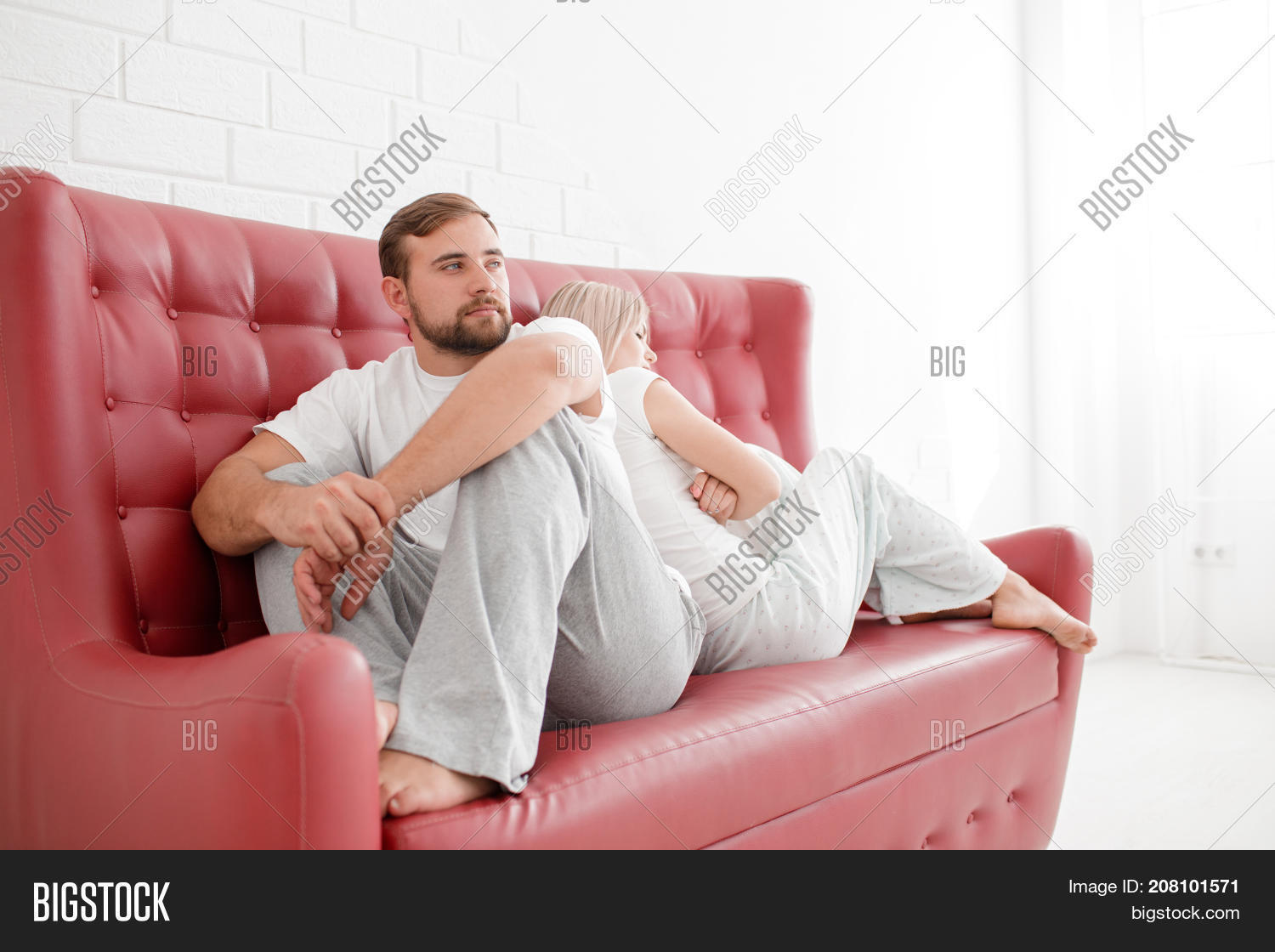 Terrific Bearded Man White Girl Image Photo Free Trial Bigstock Squirreltailoven Fun Painted Chair Ideas Images Squirreltailovenorg