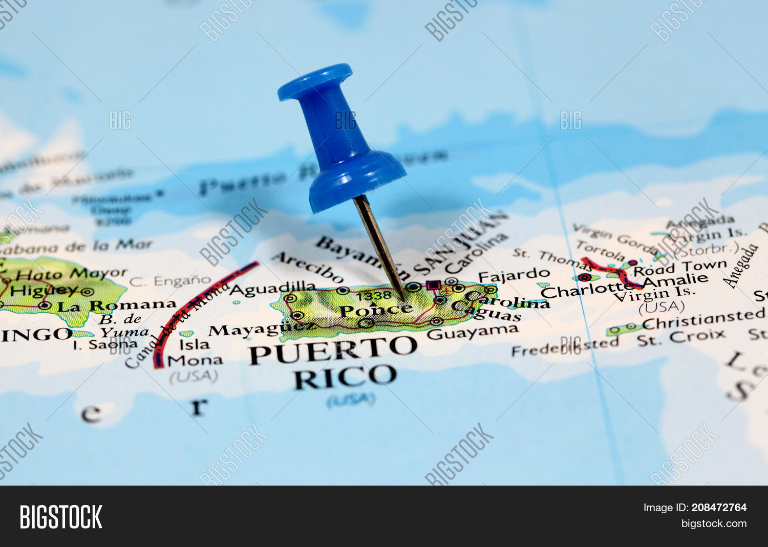 Map Pin Point Puerto Image & Free Trial