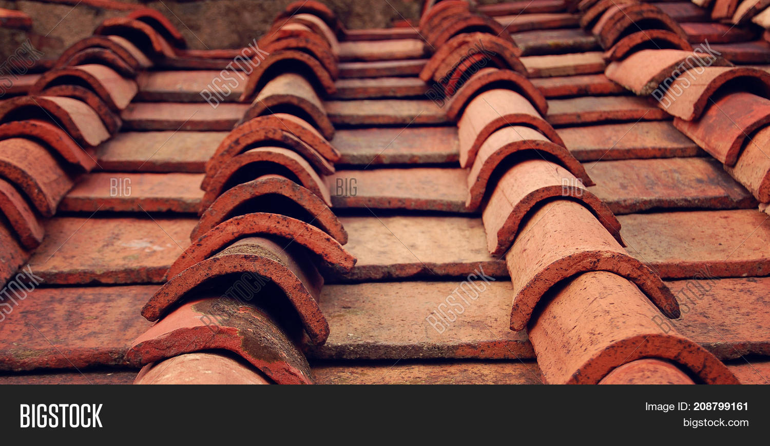Detail terracotta roof tiles aged image photo bigstock detail of terracotta roof tiles aged photo campanile of florence cathedral orange roof dailygadgetfo Image collections