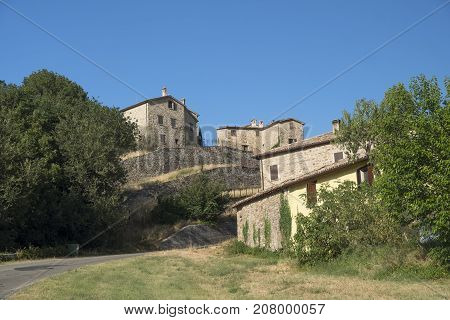 Piega (Forli Cesena Emilia Romagna Italy) old typical village along the road to San Leo