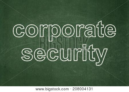 Security concept: text Corporate Security on Green chalkboard background
