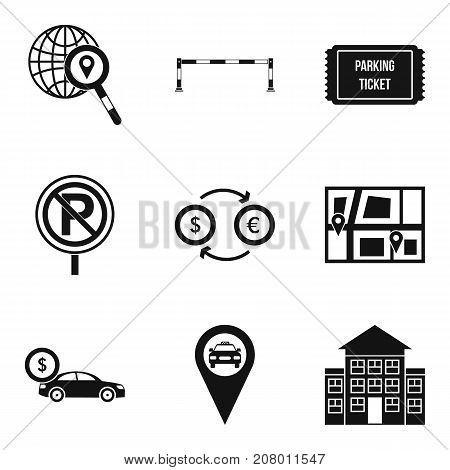 Calling a taxi icons set. Simple set of 9 calling a taxi vector icons for web isolated on white background