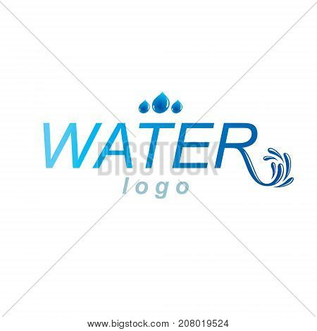 Pure aqua ecology vector logo. Human water reserves theme. Body cleansing concept.