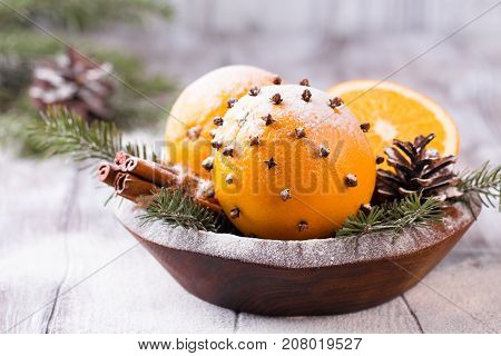 Aromatic Christmas Orange With Cloves
