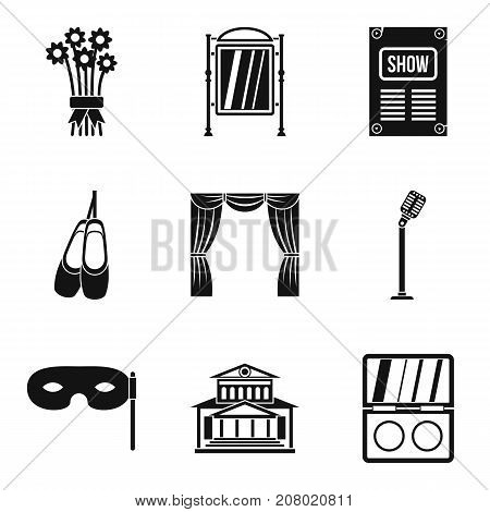 Stand up icons set. Simple set of 9 stand up vector icons for web isolated on white background