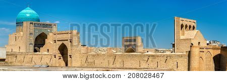 Panoramic view of the medieval town of Bukhara. A UNESCO heritage site in Uzbekistan