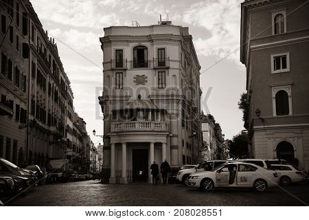 ROME - MAY 12: Street view on May 12, 2016 in Rome, Italy. Rome ranked 14th in the world, and 1st the most popular tourism attraction in Italy.