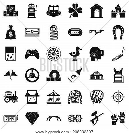 Casino icons set. Simple style of 36 casino vector icons for web isolated on white background