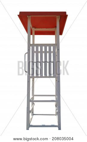Lifeguard Tower With Red Roof