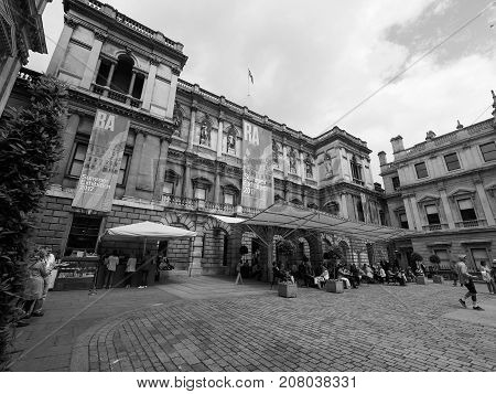 Burlington House In London Black And White