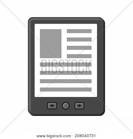 Electronic Book Icon on White Background. Vector