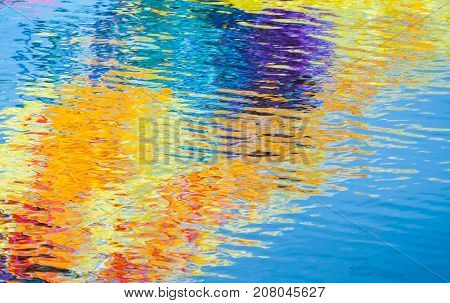 Colorful Reflections, Abstract Background