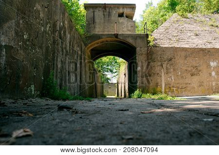 Gun Mortar Battery and Bunkers at Sandy Hook New Jersey