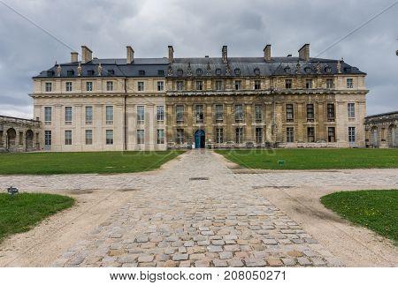 Courtyard of the Castle of Vincennes Paris. France. Chateau de Vincennes - royal fortress 14th - 17th century