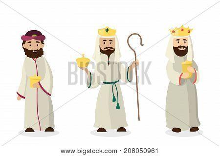 Three magi kings. Jesus Christ birthday andistmas eve.