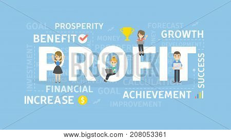 Profit concept illustration. Idea of increase, earnings and growth.
