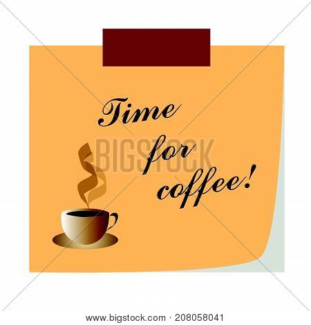 time for coffee note paper - business communication - break time