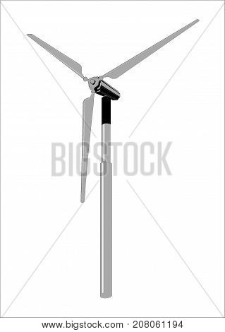 Wind power generators clip art on the white backgrounde