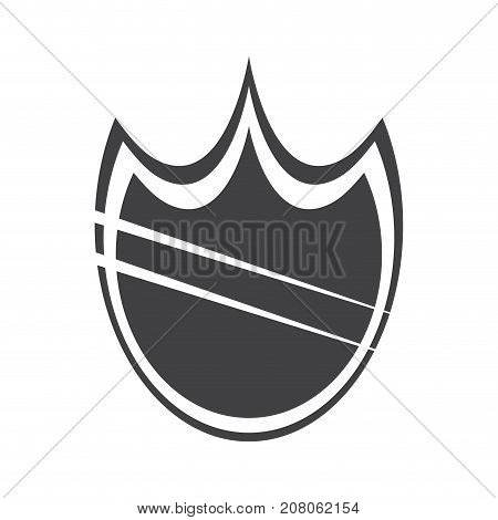 Isolated heraldry shield icon, Firewall, IT Vector illustration