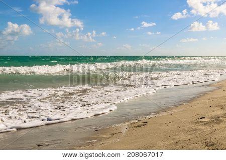 Surf on the Atlantic coast, Cuba, Varadero