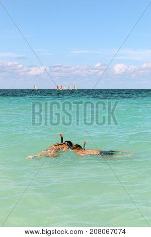 Snorkeling on the Atlantic coast, Cuba, Varadero